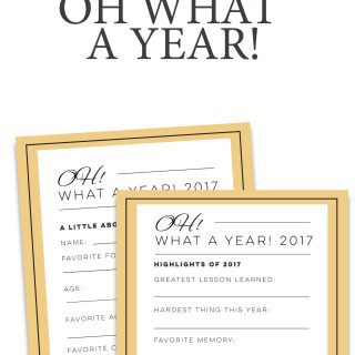 Year in Review Printable: 2017