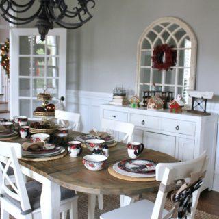 Modern Farmhouse Christmas Dining Room Tour