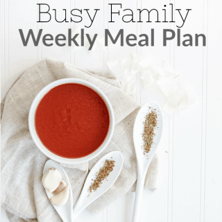 Weekly meal plan for a busy family