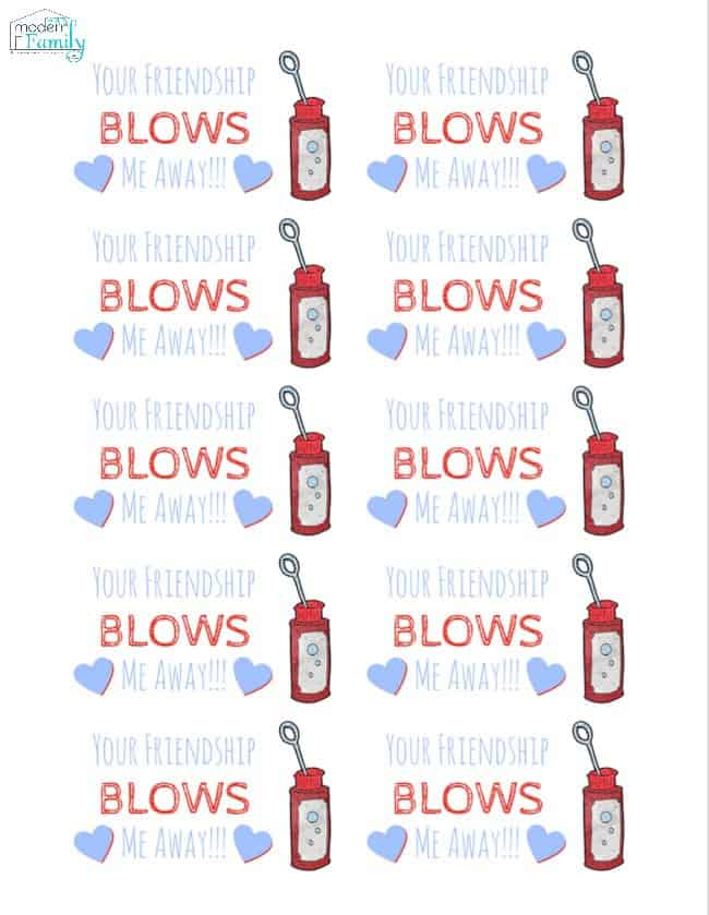 your friendship blows me away printables - CLICK HERE to download