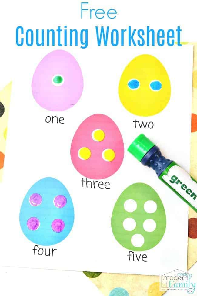 Easter Worksheets for Preschoolers or Kindergarteners (Math Counting ...