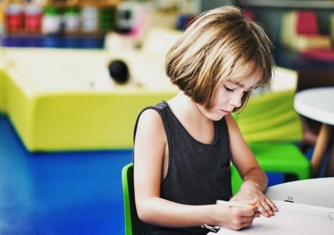 help child with writing